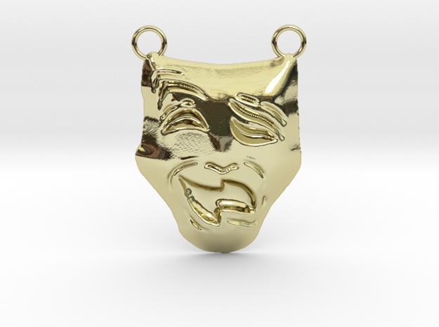 Melpomene (Tragedy Mask) Thalia (Comedy Mask)  in 18K Yellow Gold