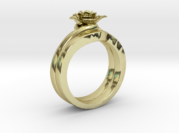 Flower Ring 41 (Contact to Add Stones) in 18K Yellow Gold