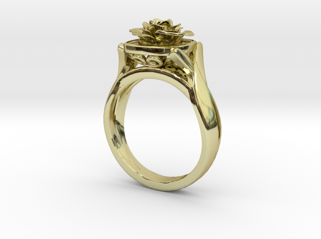 Flower Diamond Ring 101 (Contact to Add Stones) in 18K Yellow Gold