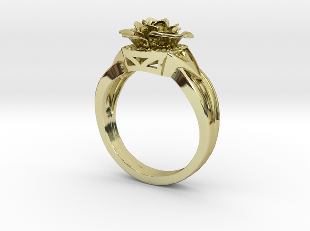 Flower Diamond Ring 99 (Contact to Add Stones) in 18K Yellow Gold