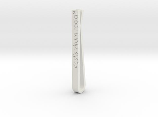 Tiebar-Vestis virum reddit in White Natural Versatile Plastic