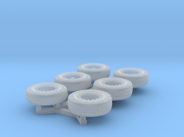 Dune Buggy Tires 1/64 scale in Smooth Fine Detail Plastic