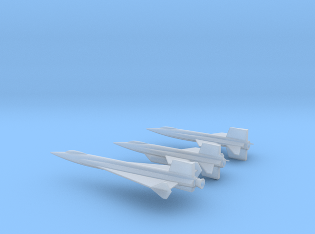 1/300 NAA NASA X-15 X-15A2 X-15 DELTA COMBO in Smooth Fine Detail Plastic