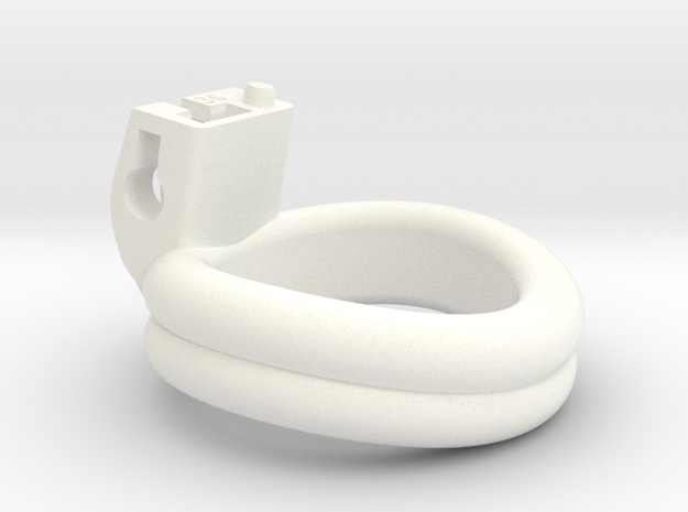 Cherry Keeper Ring - 36mm Double in White Processed Versatile Plastic