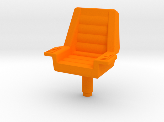 Starcom - Starbase Command - Chair in Orange Processed Versatile Plastic