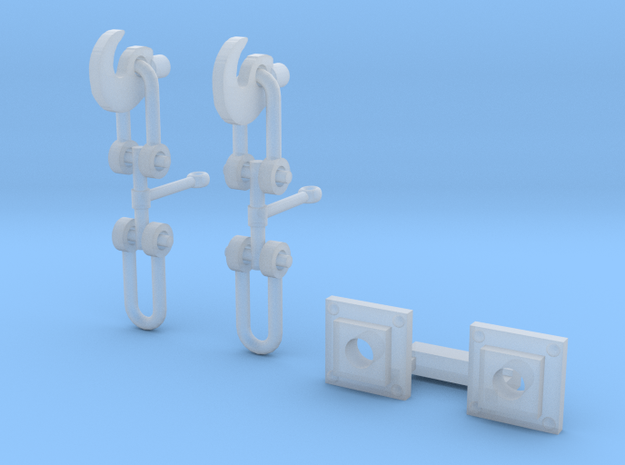 OO Scale Screw Link Couplings and Bases in Smoothest Fine Detail Plastic