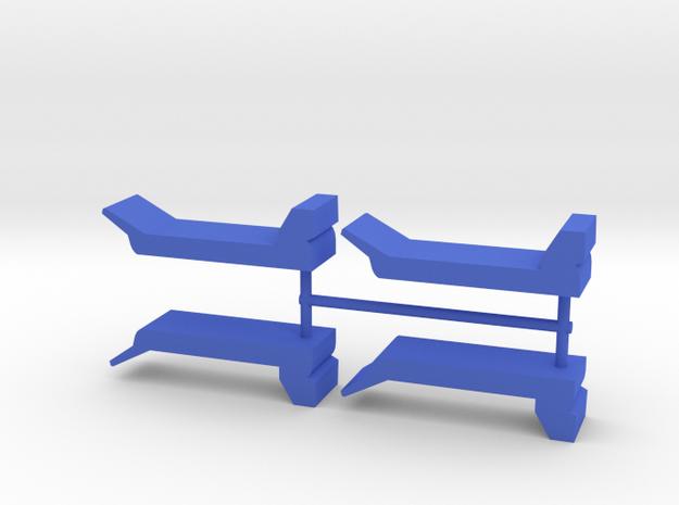 Custom transport meeple, 4-set in Blue Processed Versatile Plastic
