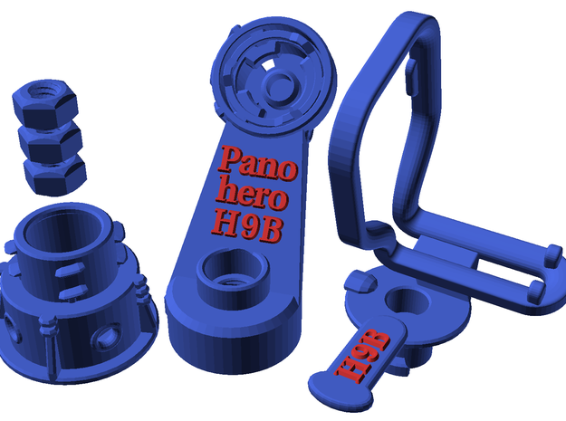 Panohero-H9B for Hero 9 in Blue Processed Versatile Plastic