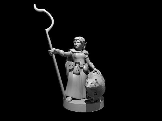 Gnome Female Druid in Smooth Fine Detail Plastic