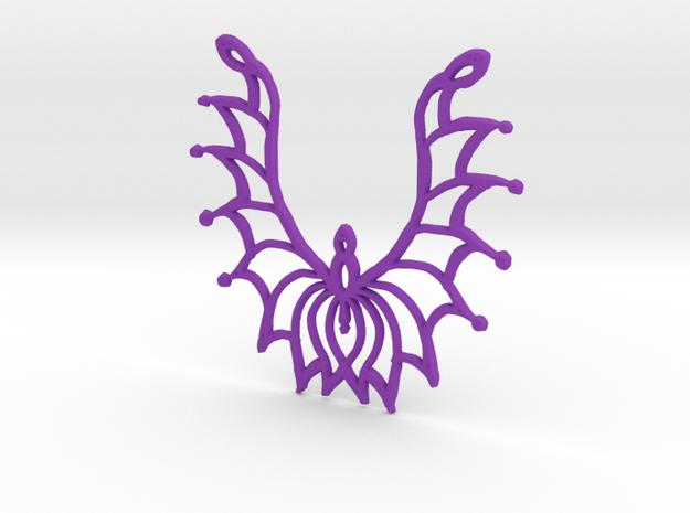:Flowersong: Pendant in Purple Processed Versatile Plastic