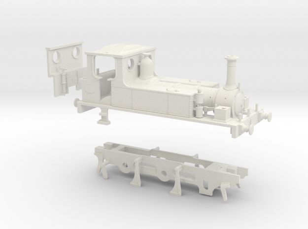 OO Scale LBSCR 'Hayling Island' (Plain Chassis) in White Natural Versatile Plastic