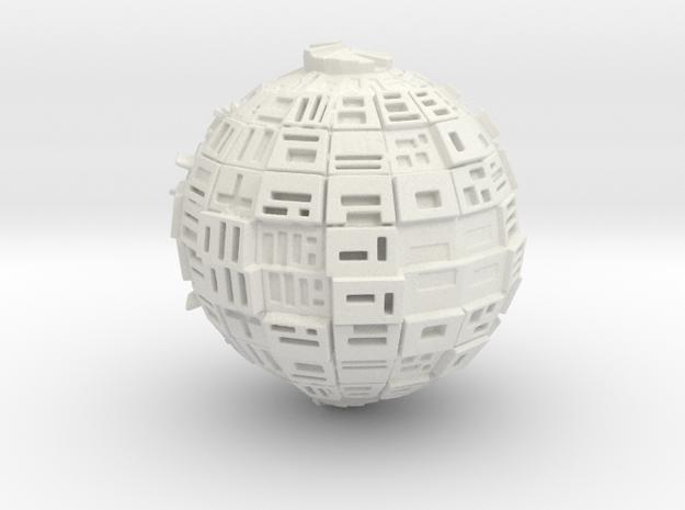 Borg Sphere in White Natural Versatile Plastic