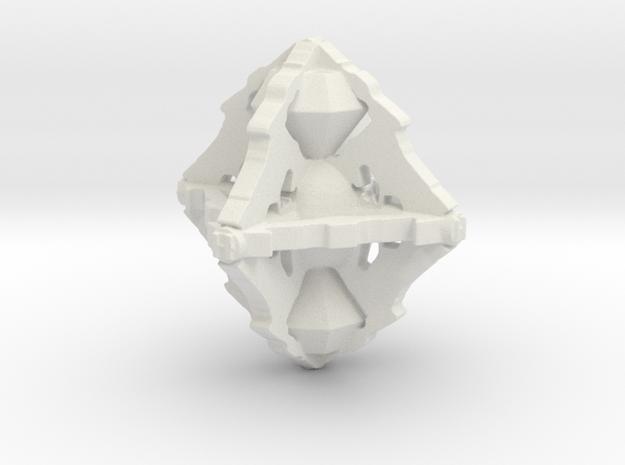 Borg Diamond in White Natural Versatile Plastic