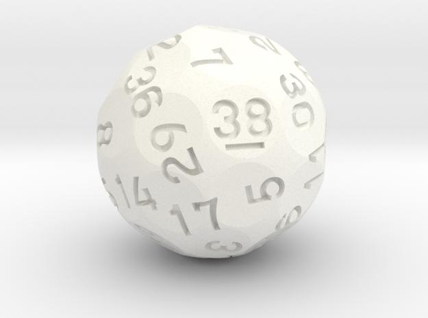 d38 Sphere Dice (Ver. 2) in White Processed Versatile Plastic