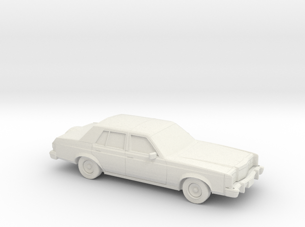 1/43 1977-80 Lincoln Versailles in White Natural Versatile Plastic