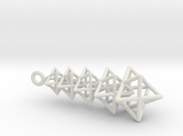 Merkaba Chain in White Natural Versatile Plastic