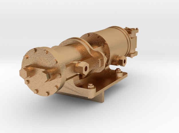 Gauge 1 26 class loco Westinghouse pump and mount in Natural Bronze