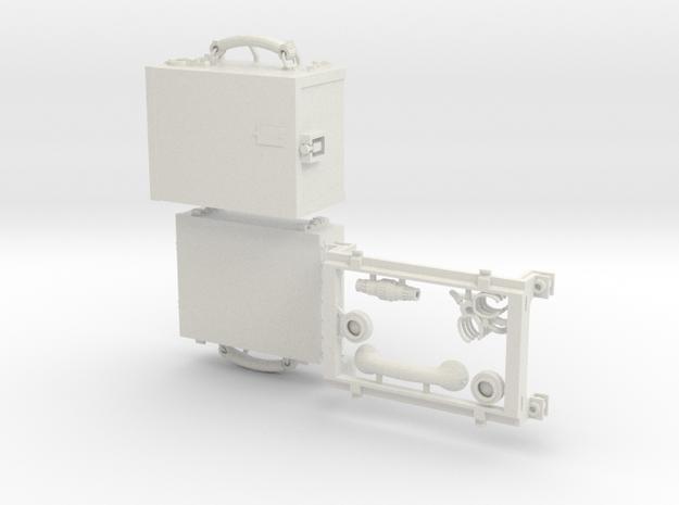 WW2 SCR 510 radio 1/6 scale verstaile plastic in White Natural Versatile Plastic