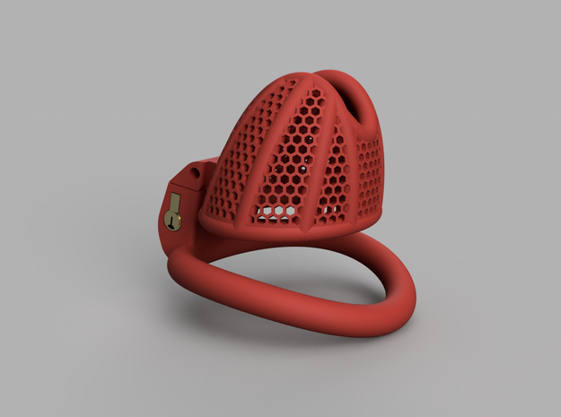 Cherry Keeper Total TouchStop - Small Wide in Red Processed Versatile Plastic: Medium