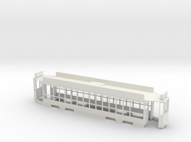 Blackpool Tram 619 00 scale in White Natural Versatile Plastic