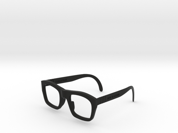71914 FLEX Sunglasses Frames by Bits to Atoms in Black Natural Versatile Plastic