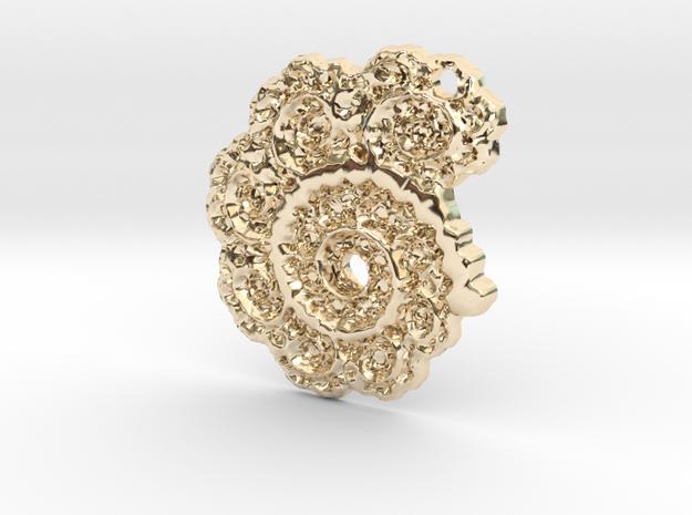 3D Fractal Lace Pendant 3d printed