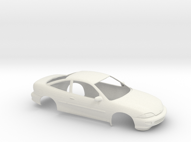 1/25 1998 Chevrolet Cavalier Coupe Shell in White Natural Versatile Plastic