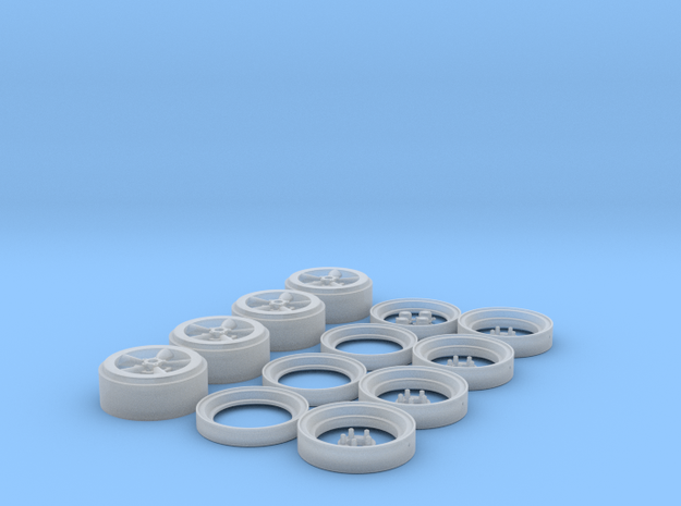 Torque Thrust D wheels 1/24-25 scale set of four in Smoothest Fine Detail Plastic
