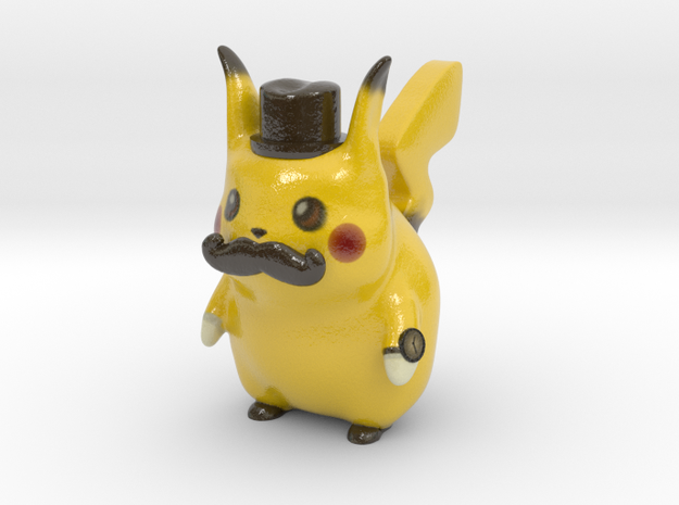 Pokemon - Gentleman Pikachu in Glossy Full Color Sandstone