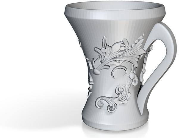 Floral Mug 3d printed