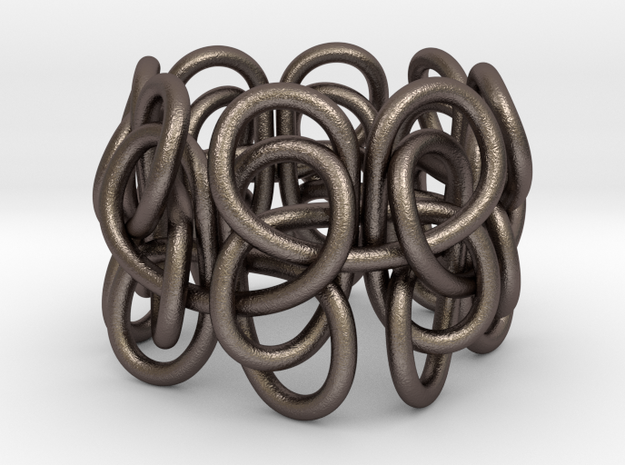 Pastafarian Knot in Polished Bronzed-Silver Steel