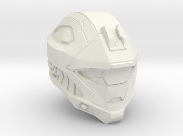 1/6 scale reconnaissance helmet in White Natural Versatile Plastic