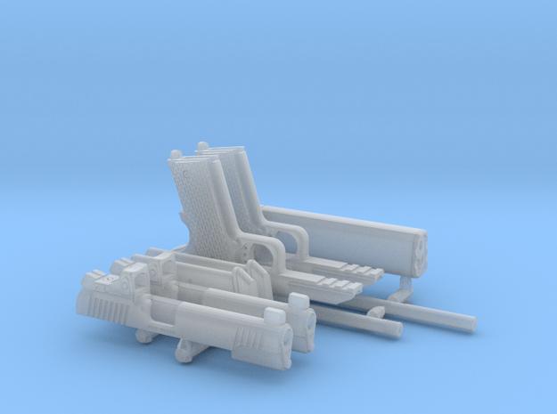 1:6 1911 Pistols w/ Slide mtd. RDS + Suppressor in Smooth Fine Detail Plastic