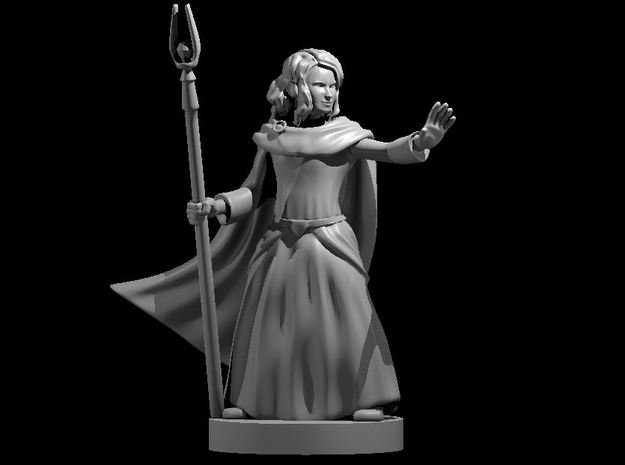 Young Human Sorceress in Smooth Fine Detail Plastic