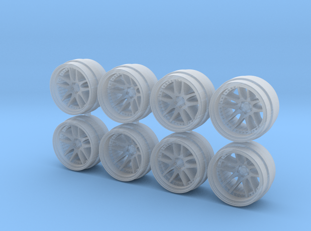 CR 3P 8-0 Hot Wheels Rims in Smooth Fine Detail Plastic