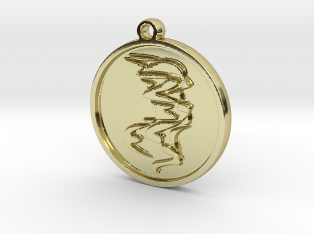 Graphik necklace in 18K Yellow Gold