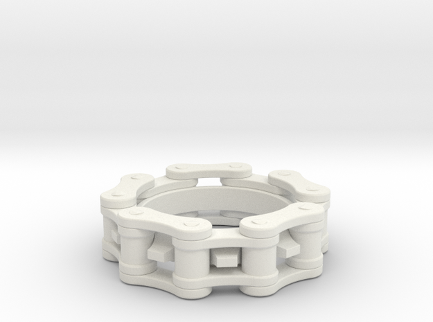 Bicycle Chain Ring 6.5mm in White Natural Versatile Plastic