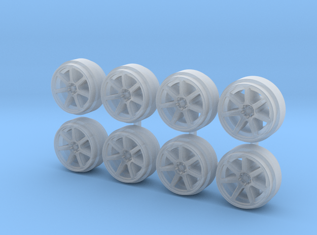 XT7 9-0 Hot Wheels Rims in Smooth Fine Detail Plastic