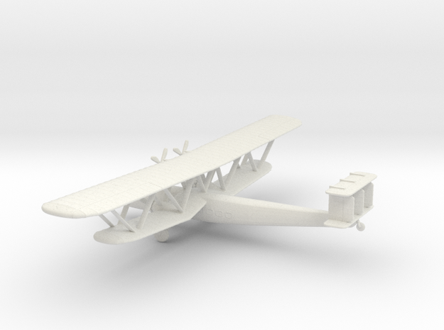 Handley Page HP.42 in White Natural Versatile Plastic: 6mm