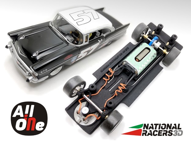 Chassis - Carrera Chevrolet Bel Air 57 (In-AiO) in Black PA12