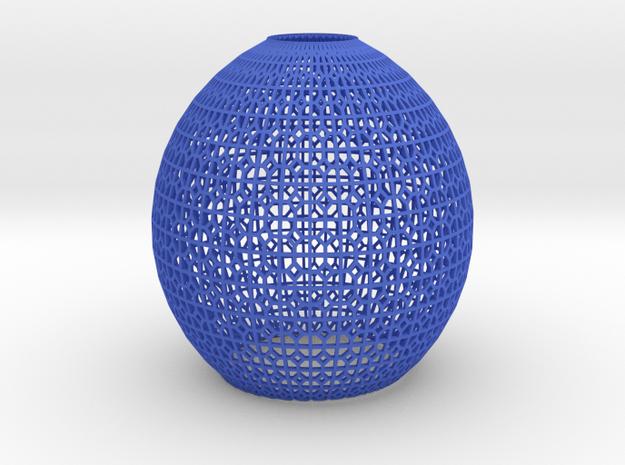 Lampshade (Ikebana-1 Pentagon) in Blue Processed Versatile Plastic
