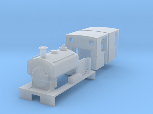 009 Andrew Barclay 0-4-0ST in Smooth Fine Detail Plastic
