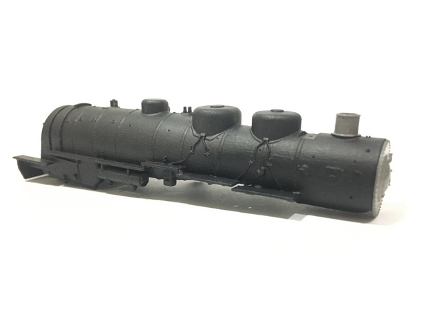 AT&SF 4-8-2 Boiler Shell (N-Scale) in Smooth Fine Detail Plastic
