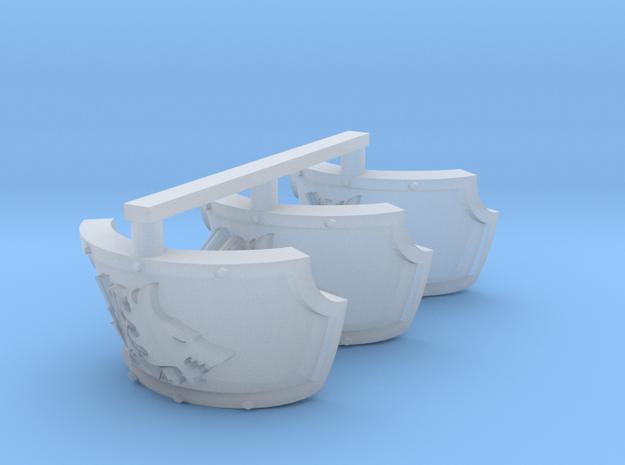 Space Vikings 12th brotherhood Centaur pads x3R in Smooth Fine Detail Plastic