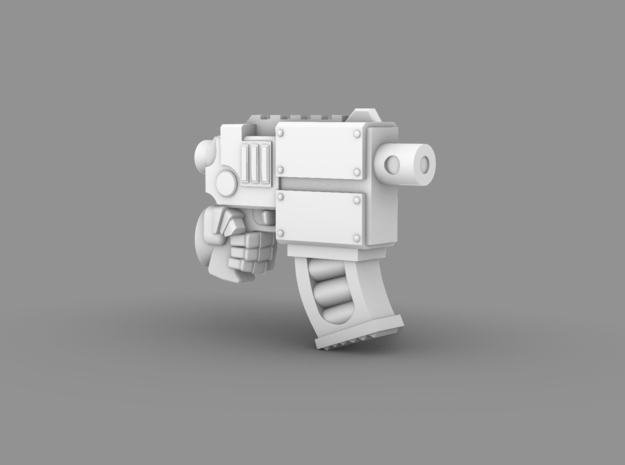 Space Knight V10 Nailer Pistol (Left) in Smooth Fine Detail Plastic