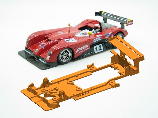PSFY00401 Chassis for Fly Panoz LMP-1 in White Natural Versatile Plastic