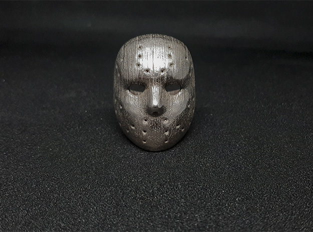 Jason Ring in Polished Bronzed-Silver Steel: 9.5 / 60.25