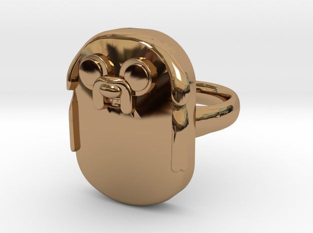 Jake The Dog Ring (Large) in Polished Brass
