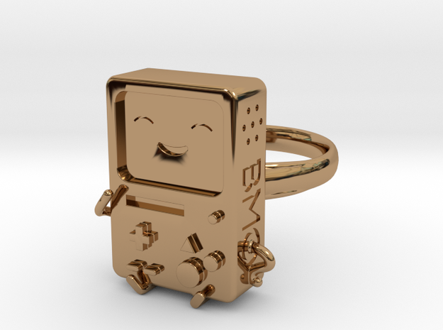 BMO Ring (Small) in Polished Brass