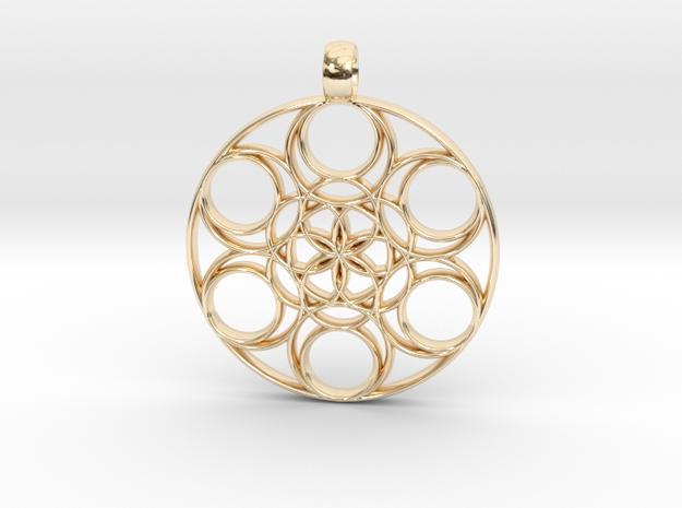 medalion basis 43-3 in 14k Gold Plated Brass